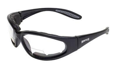 Hercules Bifocal Reading Reader Clearsmoke Safety Glasses Padded Sun Anti Fog