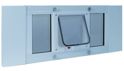 "20""-25"" Sash Window Door with 6 1/4"" x 6 1/4"" Flap For Cats and Small Dogs"
