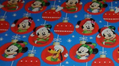 WRAPPING PAPER DISNEY MICKEY MOUSE 3.33FT x 4FT CHRISTMAS PLUTO MINNIE BLUE RED ()