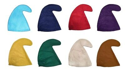 SMURF HAT SMURFETTE GNOME ELF HAT FANCY DRESS PARTY BLUE WHITE RED GREEN YELLOW - Red Smurf Hat