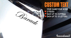 2* CUSTOM TEXT Personalised Lettering Name Vinyl Styling Car Van Laptop Sticker