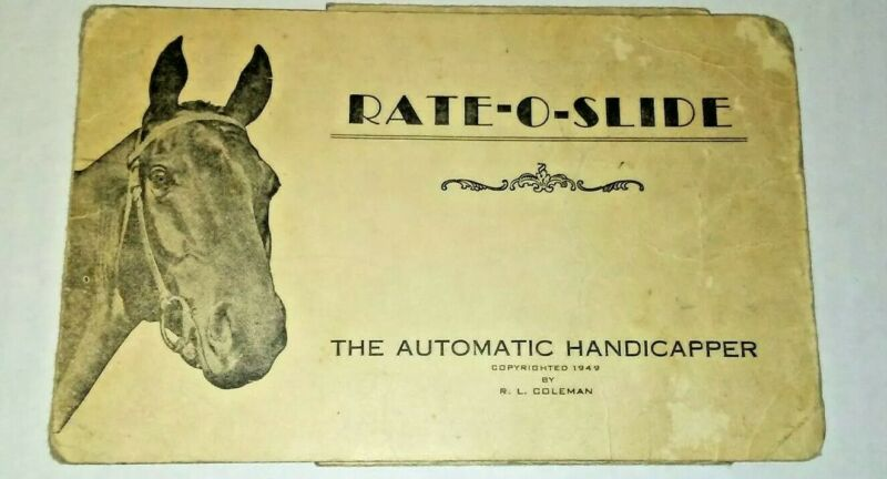 RATE O SLIDE AUTOMATIC HORSE RACING HANDICAPPER 1949