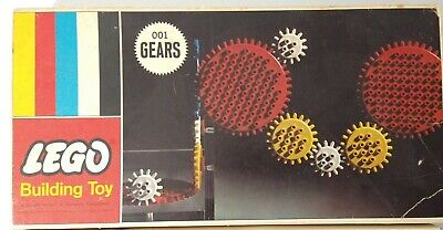 Vintage 1960's Lego Box of Vintage Legos Building Toy Gears 001 Not Complete
