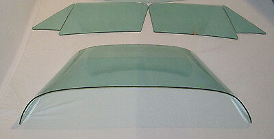 1964-1967 CORVETTE COUPE SIDE & BACK GLASS SET GREEN DATED TO MATCH YOUR CAR