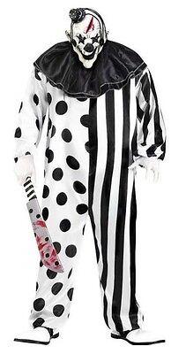 Herren Schwarz/Weiß Killer Clown Halloween Scary Zirkus Kostüm - Scary Zirkus