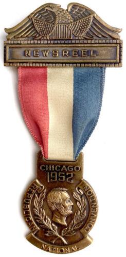 1952 RNC Newsreel Photographer Badge & Ticket ~ Dwight Eisenhower