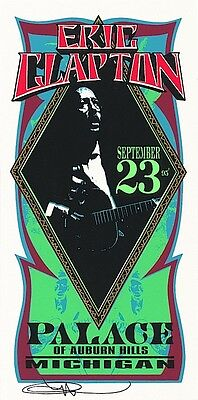 MINT & SIGNED Eric Clapton 1995 Auburn Hills Palace Arminski Handbill