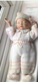 Ashton Drake ' Beautiful Newborn' baby porcelain doll. First Issue
