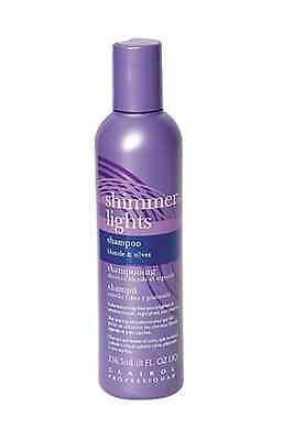 CLAIROL Shimmer Lights Shampoo 8 oz (Blonde & Silver) Pro Color Enhancing! Clairol Professional Shimmer Lights Shampoo