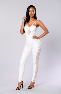 Brand New (with tags) Fashion Nova Chanel Jumpsuit - Small