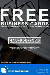 FREE BUSINESS CARD PRINTING SERVICE