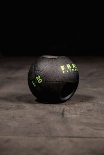 NEW Fray Fitness Dual Handle Grip Rubber Medicine Ball Home Gym Workout 20lbs.