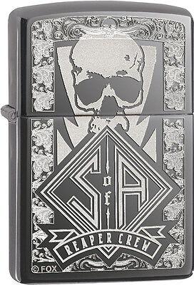 Zippo Sons Of Anarchy Samcro Reaper Crew Black Ice Windproof Lighter 28757 New