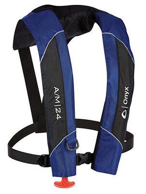 Onyx A/M-24 Automatic/Manual Inflatable PFD Blue Life Jacket 132000-500-004-15