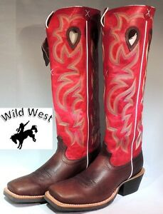 Mens Twisted X Buckaroo Boots Coffee Red Mbk0023 Nib