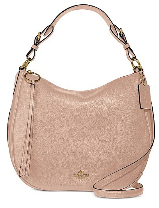 Coach Leather Sutton Hobo Beechwood-Gold Crossbody