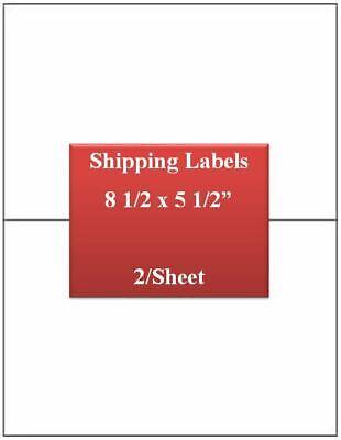 Ul Labels Laserinkjet Premium White Strong Adhesive 8 12 X 5 12 500 Label