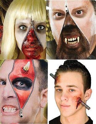 Halloween De Terror (Halloween Terror Zombie Cremallera efectos especiales kit de maquillaje disfraz)