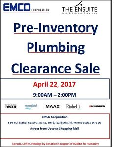 Pre Inventory Clearance Sale - Plumbing Fixtures