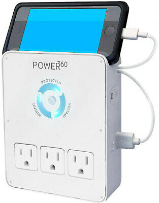Panamax - Power 360 6-outlet Wall Tap Charging Station