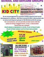 Field Trip - Visit Kid City with your School or Daycare Groups