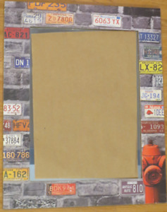 MAN CAVE- Licence Plate Mirror-Gritty Bricks for Authentic Feel