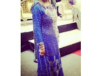 Royal/turquoise Blue designer bridal Lengha