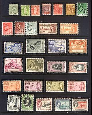 MNH & MINT HINGED & USED VIRGIN ISLANDS #13/698/MR1-2 CV$282.60