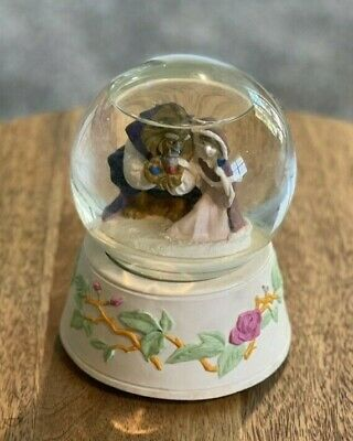 Vintage Disney's Beauty and the Beast Snowglobe - Belle and Beast