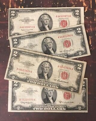 1953 $2 United States Note - Red Seal (2) Note Paper Money Collection