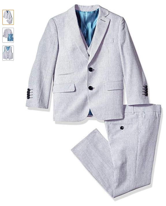 Isaac Mizrahi Little Boys Slim 2 Piece Cut Wool Blend Suit