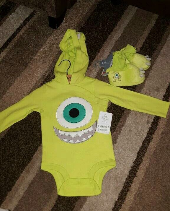 BNWT monsters Inc outfit and booties 9 12in South Shields, Tyne and WearGumtree - Brand new with tagsMonsters Inc hooded vest size 9 12 and booties 6 12Bought from the Disney store