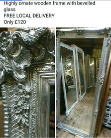 Stunning beaches down new ornate antique silver full length mirror SALE