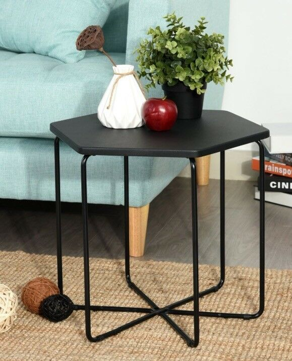 New hexagonal coffee/sofa/corner table - black - two available
