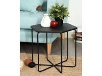New hexagonal coffee/sofa/corner table - black - two available