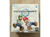 Mario Kart Wii with Wheel on Nintendo Wii Excellent Condition