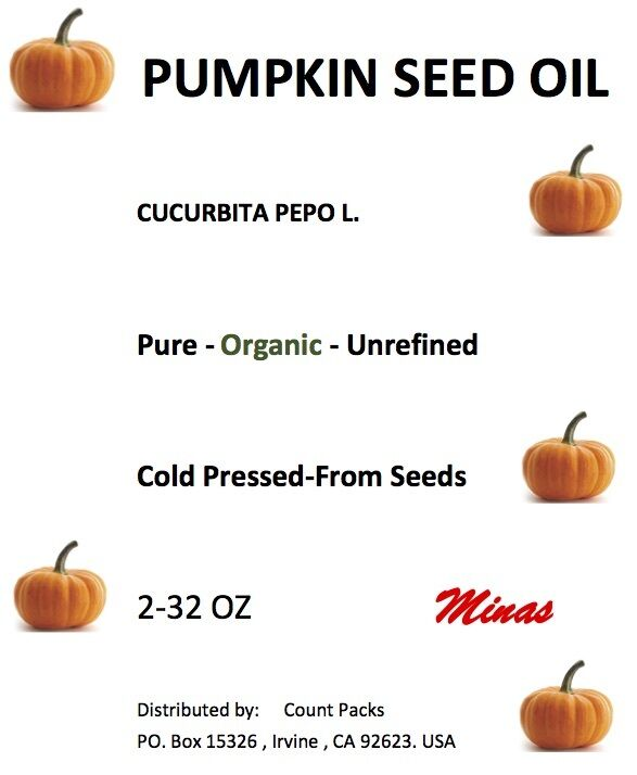 Pumpkin Seed Oil Unrefined Organic Carrier Cold Pressed V...