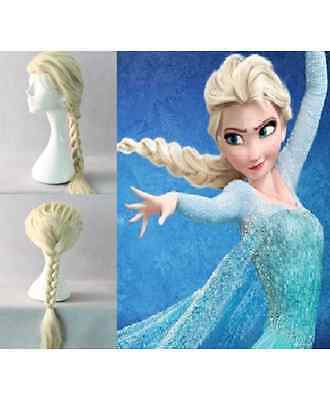 Elsa the Snow Queen Ponytail Wig Hair For  Adult For Halloween & Cosplay - Halloween Queen Hair