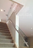 Glass Railings: Interior and Exterior