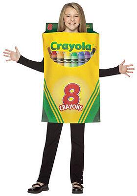 LICENSED CRAYOLA CRAYON BOX HALLOWEEN COSTUME UNISEX CHILD SIZE MEDIUM 7-10 - Crayola Crayon Box Halloween Costume