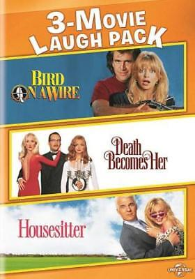 3-MOVIE LAUGH PACK: BIRD ON A WIRE/DEATH BECOMES HER/HOUSESITTER NEW DVD