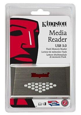 Kingston Usb Microsd Reader (Kingston FCR-HS4 USB 3.0 Media Card Reader 32GB 64GB 128GB CF microSD SDXC SD)