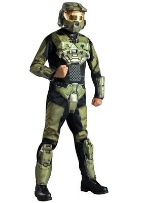 Halo costume Master Chief Deluxe Halloween Costume New Size XL Rubies Mens - Halloween Halo