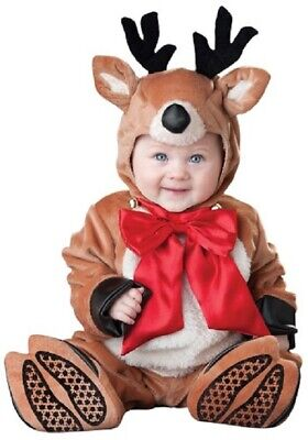 Reindeer Rascal Costume Rudolf Christmas Costume Infant Toddler Plush 6-12M](Reindeer Baby Costume)