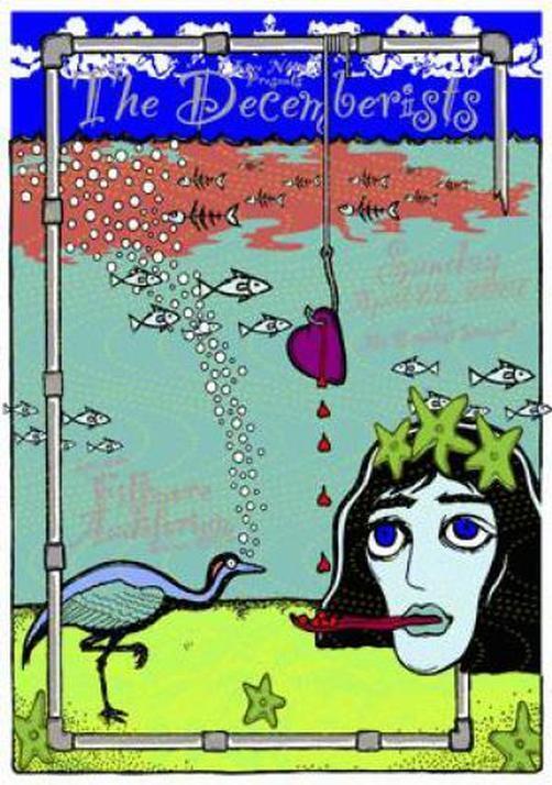 THE DECEMBERISTS DENVER 2007 CONCERT POSTER KUHN SILKSCREEN ORIGINAL