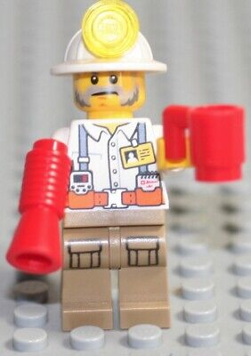 Toy Hard Hat With Light (LEGO MINING FOREMAN WITH HARDHAT LIGHT AND BULLHORN)