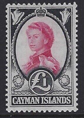 CAYMAN ISLANDS 1962 QEII £1 Carmine & Black MNH