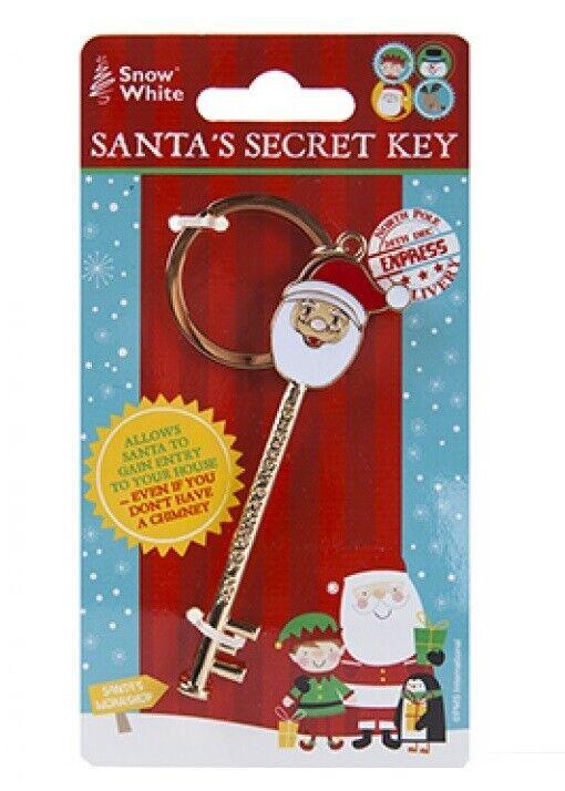 Cute+Christmas+Die+Cast+Secret+Santa+Keyring+Magic+Door+Key+9.5cm+Xmas+Eve