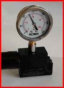 Regulator Pressure Testing Kit / Gauge  WEIHRAUCH HW100 / hw 101 FAC compatible