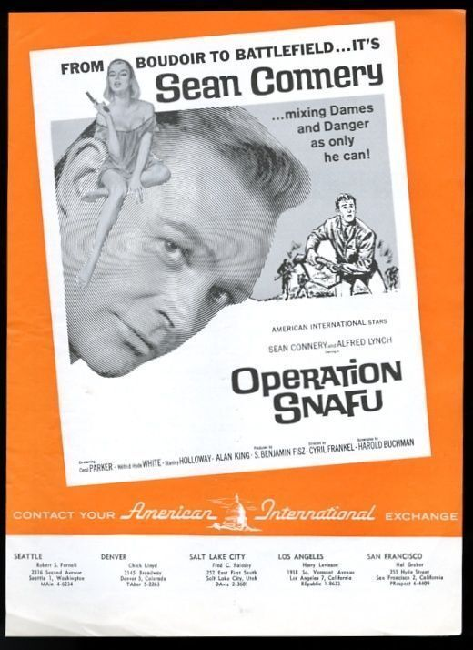 1965 Sean Connery photo Operation Snafu movie trade vintage print ad